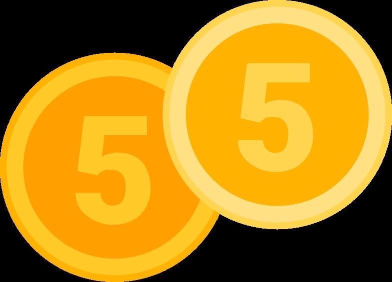coins Clipart illustration in PNG, SVG