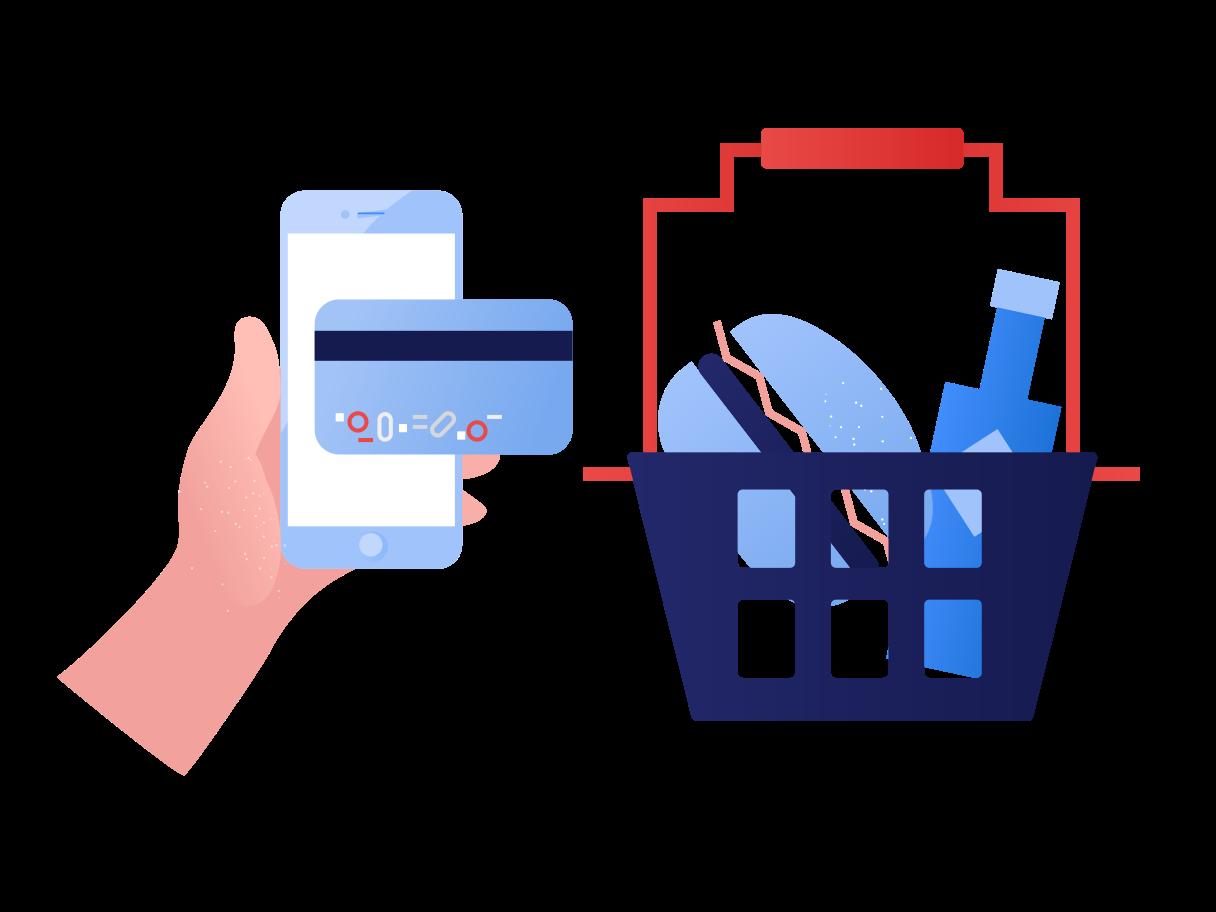 Online food delivery Clipart illustration in PNG, SVG