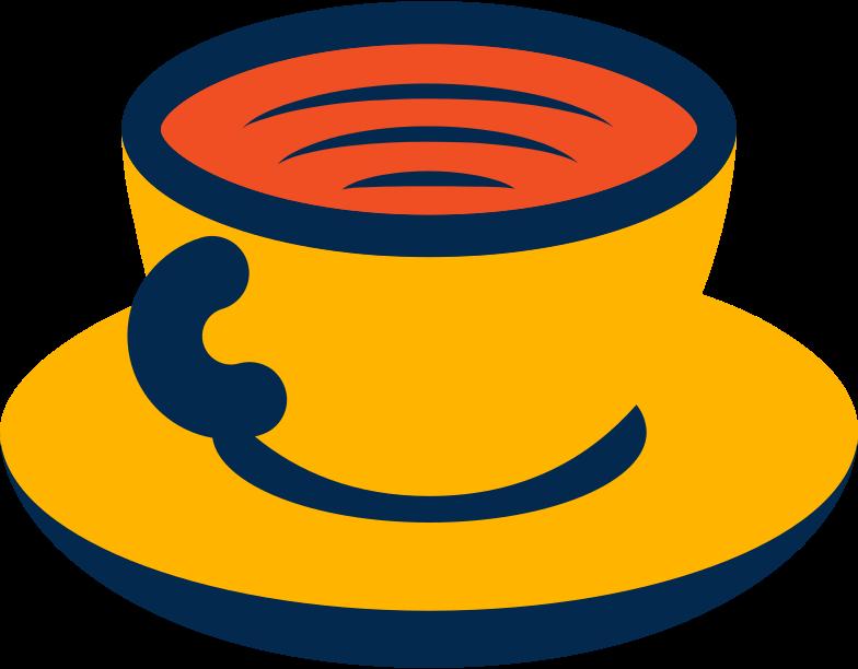 Ilustración de clipart de taza de cafe en PNG, SVG