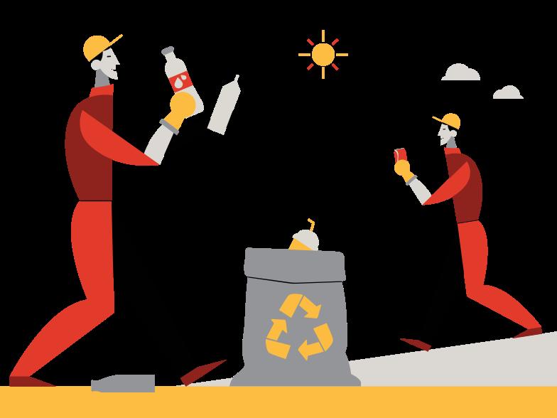 Picking up trash Clipart illustration in PNG, SVG