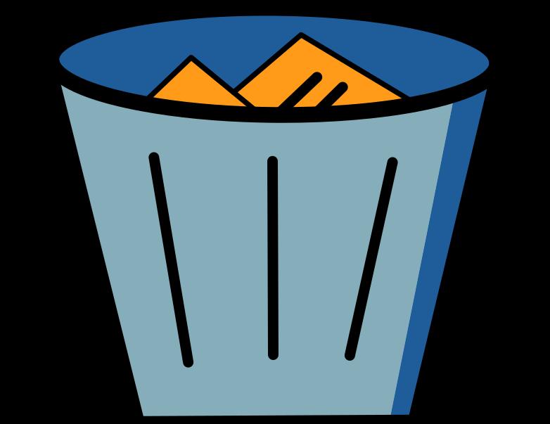 delete confimation  trash bin full Clipart illustration in PNG, SVG