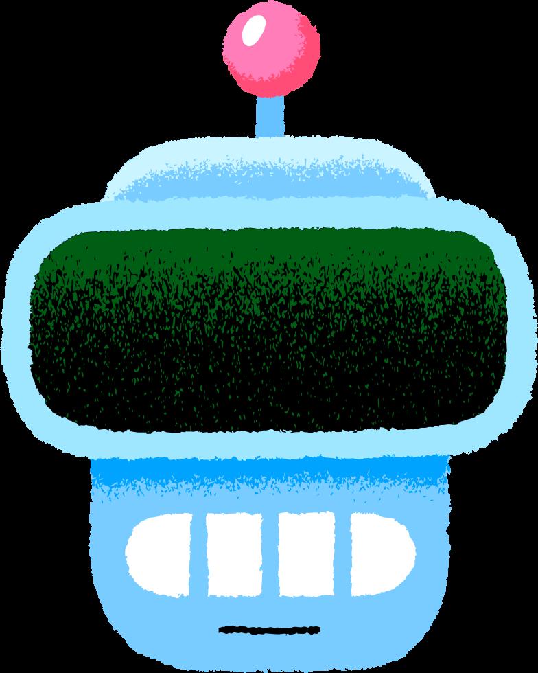 robot head smile Clipart illustration in PNG, SVG