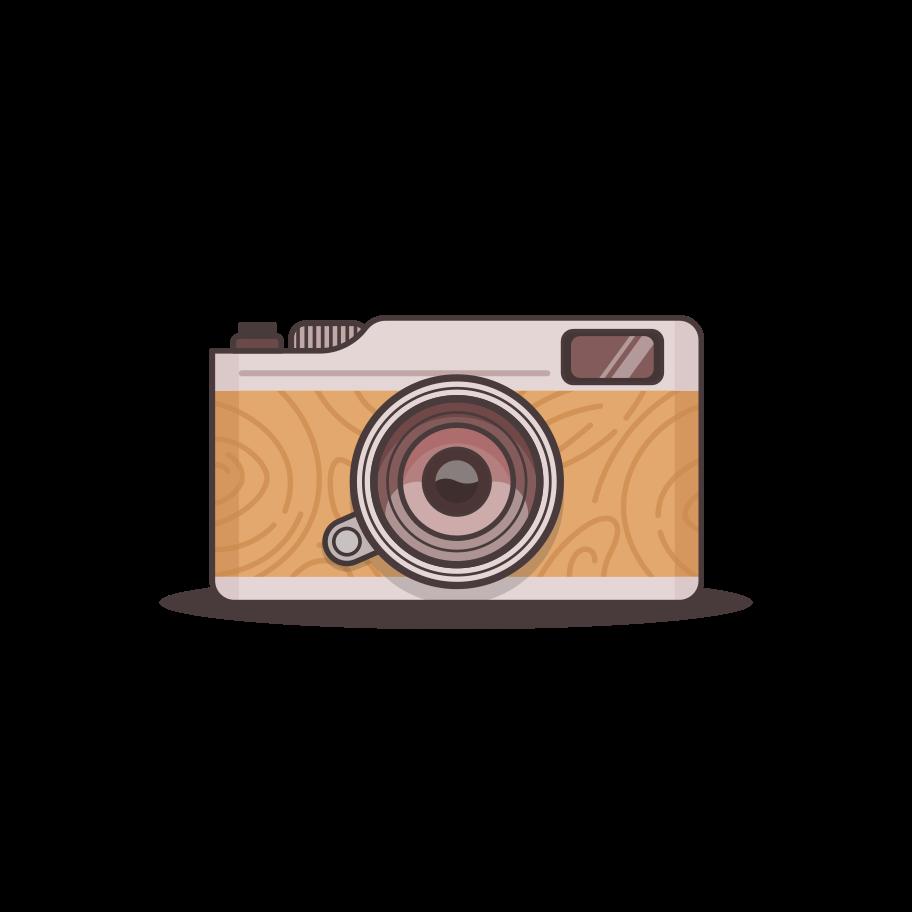 Vintage camera Clipart illustration in PNG, SVG