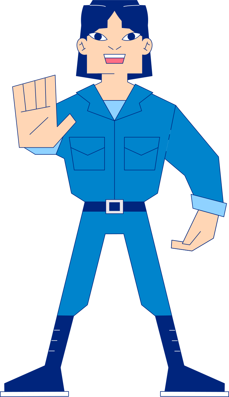 construction site worker stopping Clipart illustration in PNG, SVG