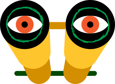 style binocular with eyes images in PNG and SVG | Icons8 Illustrations