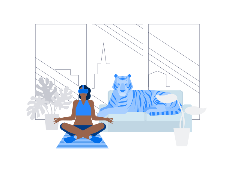 style VR Yoga Vector images in PNG and SVG | Icons8 Illustrations