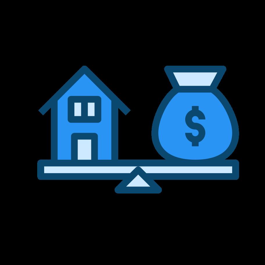 Real estate market Clipart illustration in PNG, SVG