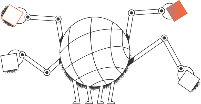 robot with rectangles Clipart illustration in PNG, SVG