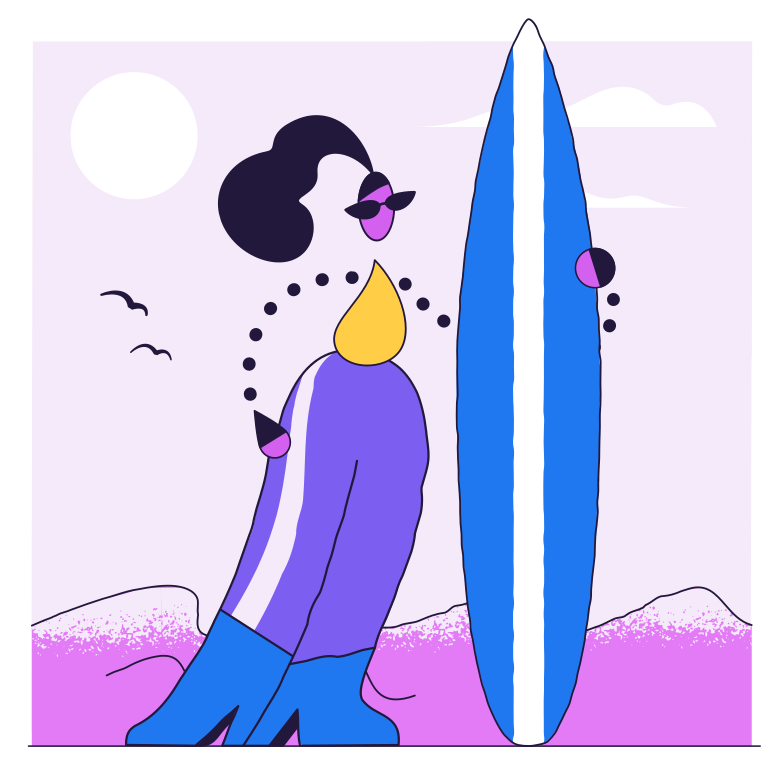 Ready for the summer Clipart illustration in PNG, SVG