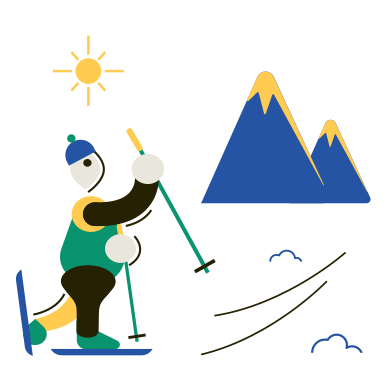 style Alpine skiing images in PNG and SVG | Icons8 Illustrations