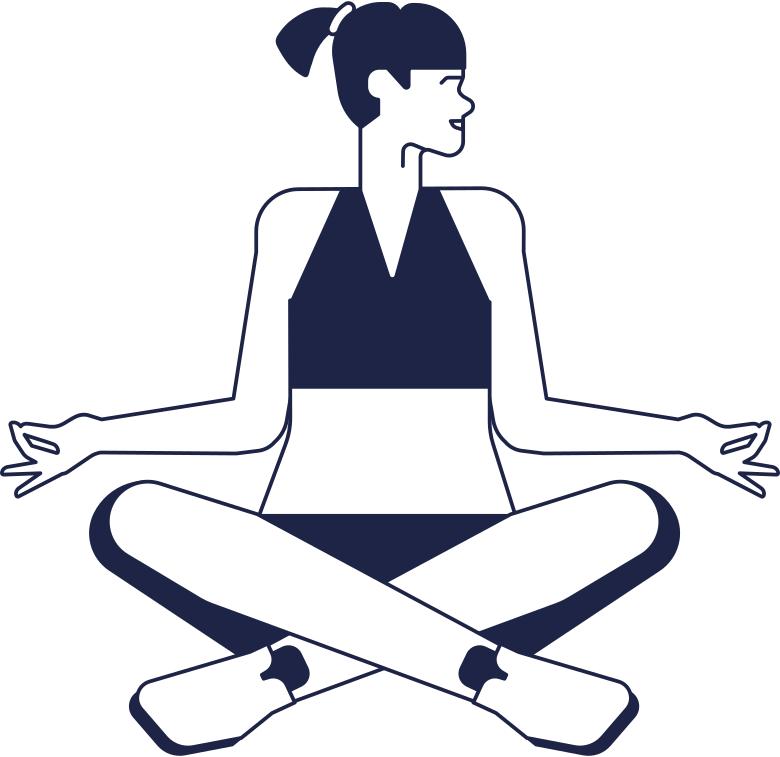 unsubscribed  yoga woman line Clipart illustration in PNG, SVG