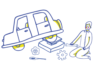 style Car repairing, wheel replacement images in PNG and SVG | Icons8 Illustrations