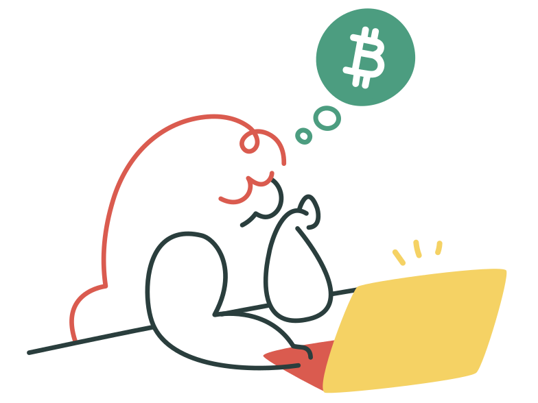 Bitcoin trading Clipart illustration in PNG, SVG