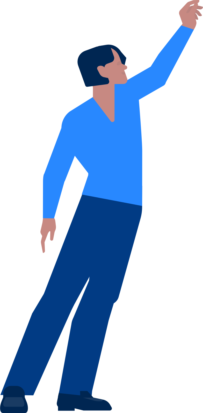 man with a raised hand Clipart illustration in PNG, SVG
