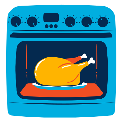 style Baked chicken images in PNG and SVG | Icons8 Illustrations