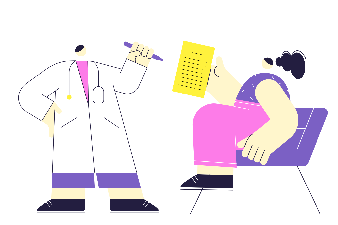 The doctor's appointment Clipart illustration in PNG, SVG