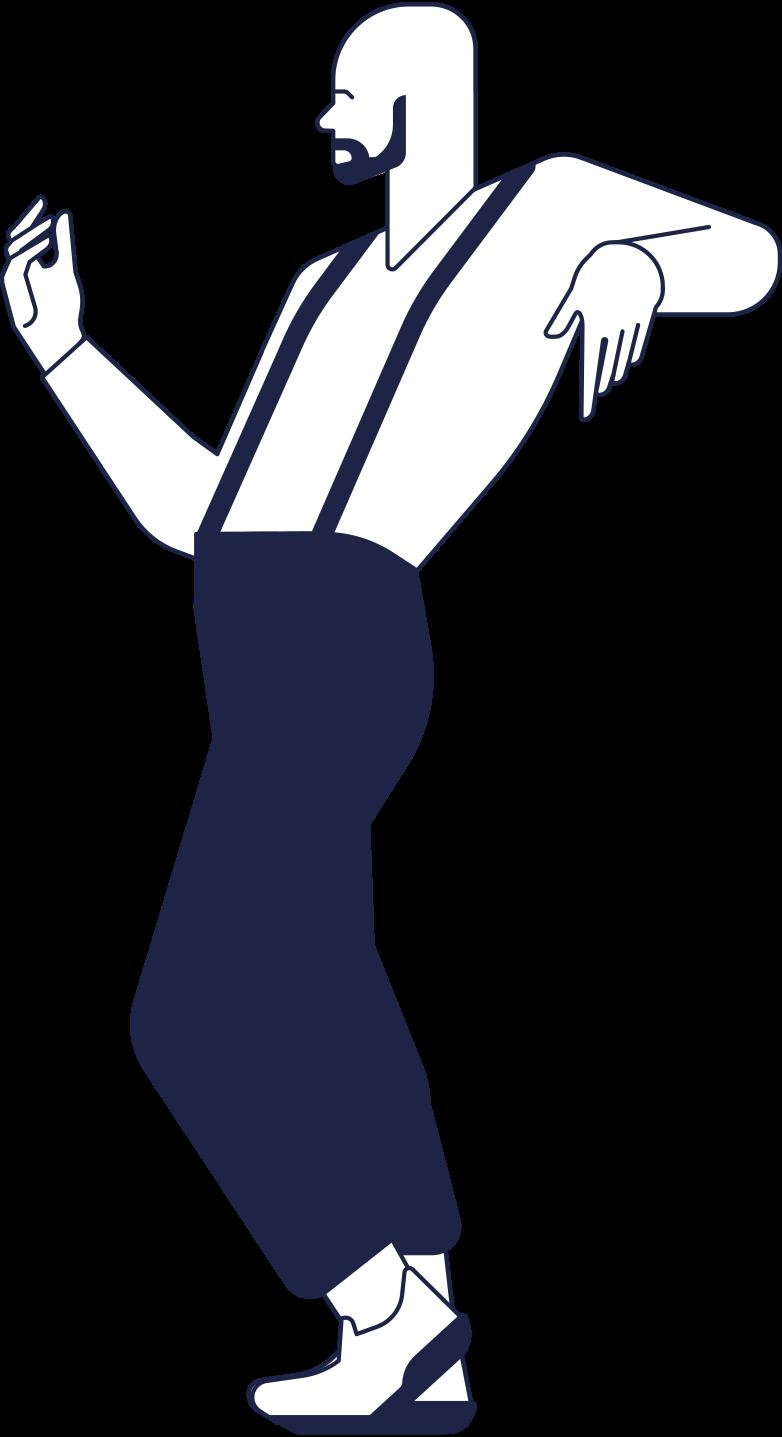 order completed  worker line Clipart illustration in PNG, SVG