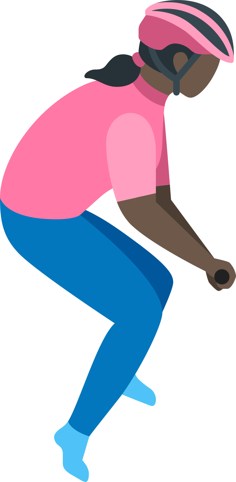 woman cyclist Clipart illustration in PNG, SVG