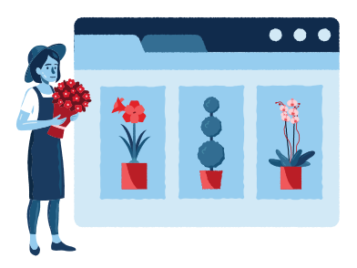 style Online plants website images in PNG and SVG | Icons8 Illustrations