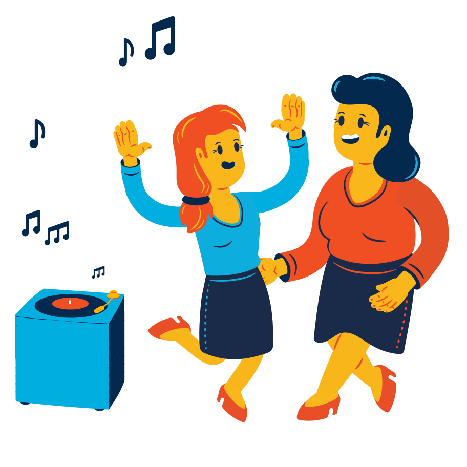 Dancing couple Clipart illustration in PNG, SVG