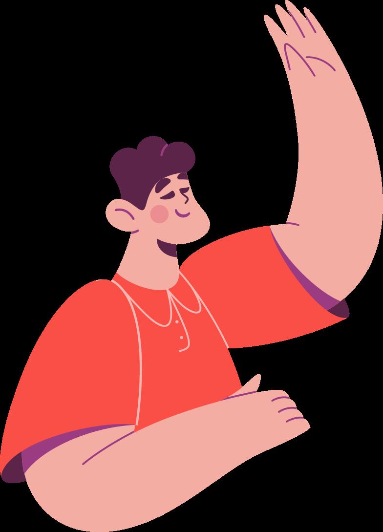 half man Clipart illustration in PNG, SVG