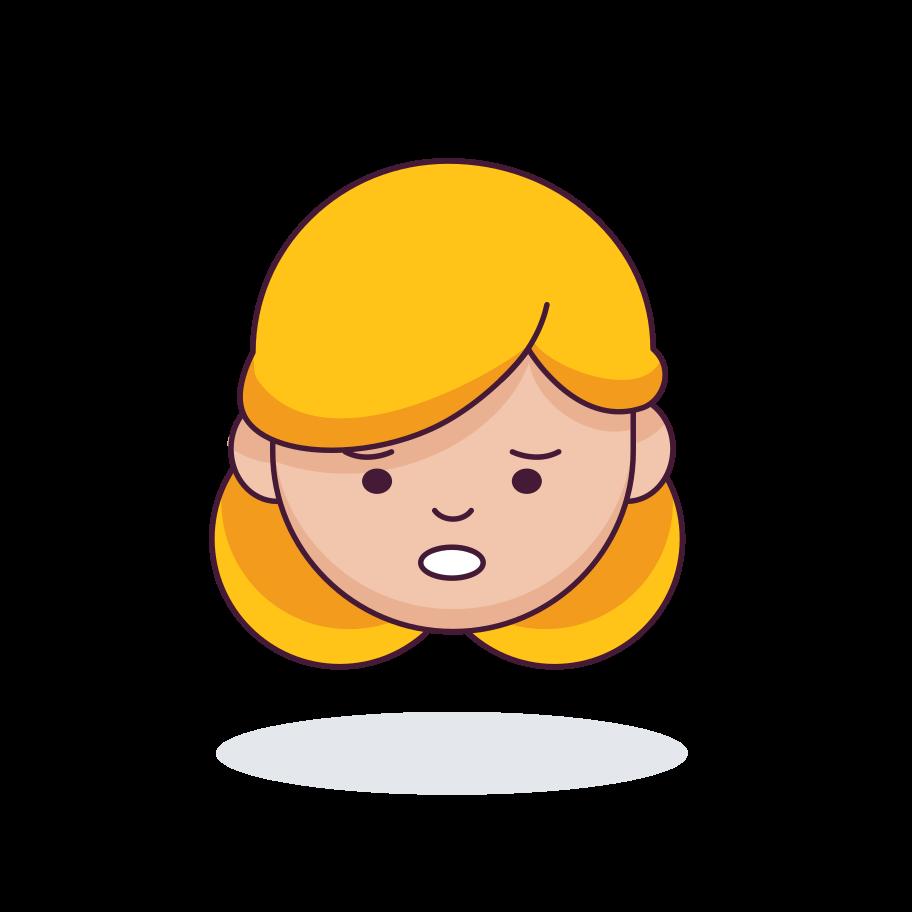 Sneezing Clipart illustration in PNG, SVG
