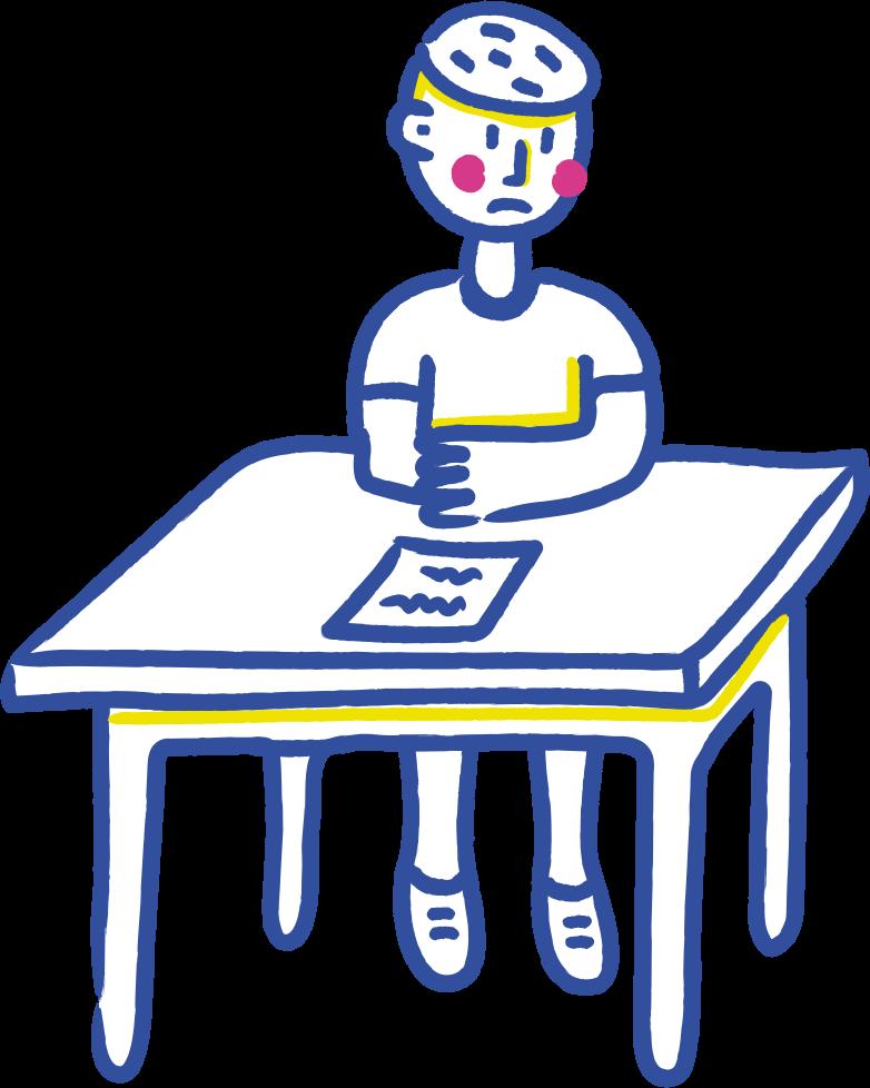sad student Clipart illustration in PNG, SVG
