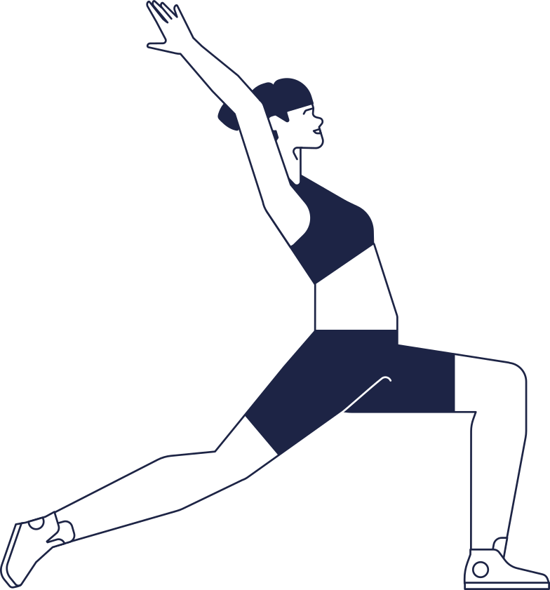 education  woman in yoga pose line Clipart illustration in PNG, SVG