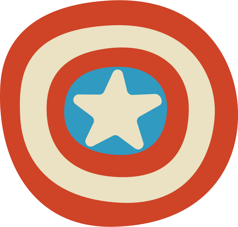 shield captain america Clipart illustration in PNG, SVG