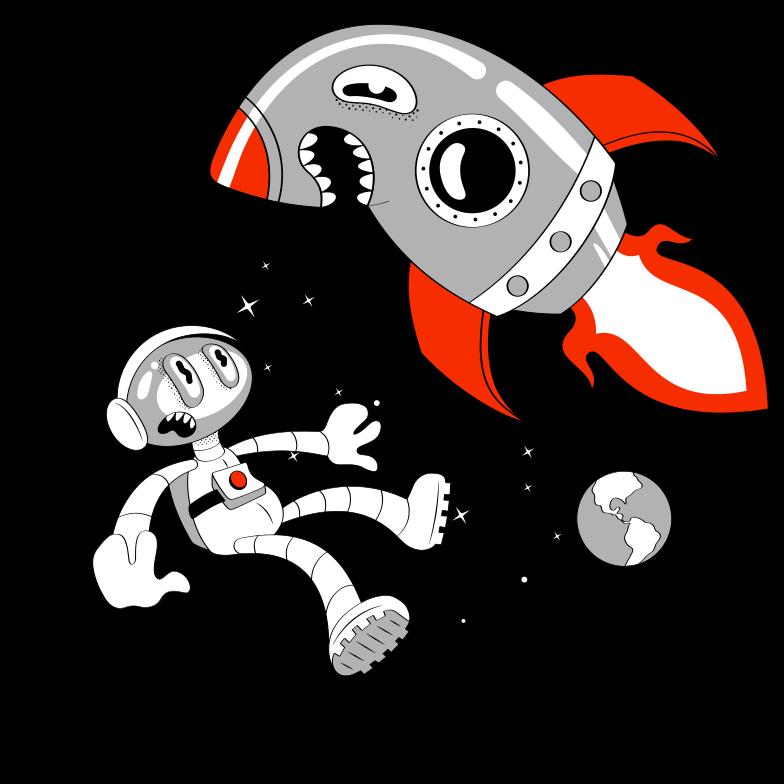 Mad Rocket Clipart illustration in PNG, SVG