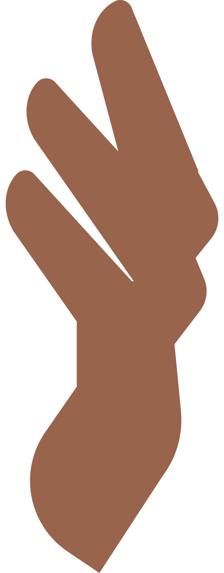 woman sitten fingers Clipart illustration in PNG, SVG