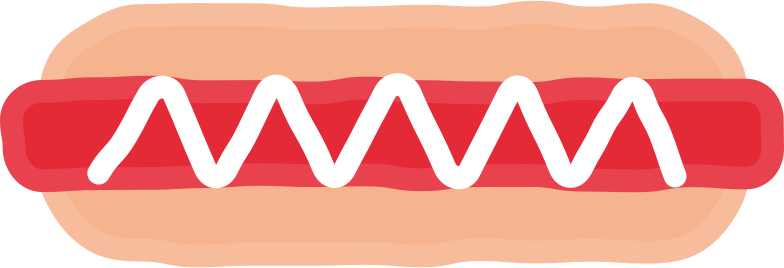 hot dog Clipart illustration in PNG, SVG