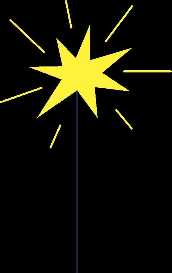 sparkler Clipart illustration in PNG, SVG