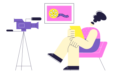 style Review of film premieres images in PNG and SVG | Icons8 Illustrations