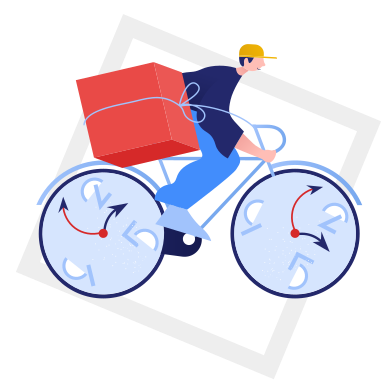 style Fast delivery right in time images in PNG and SVG | Icons8 Illustrations