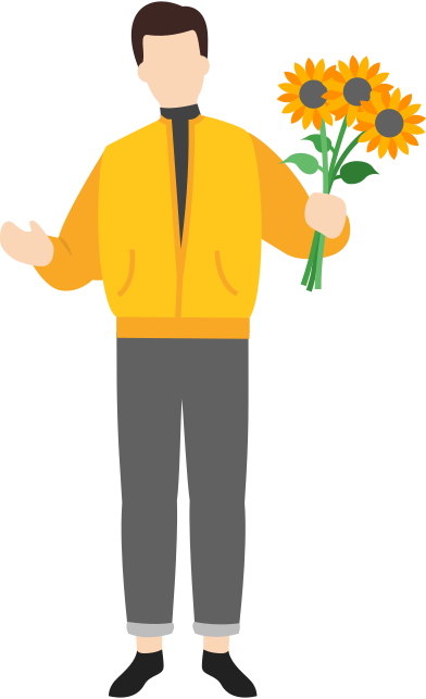 style man with flowers images in PNG and SVG   Icons8 Illustrations