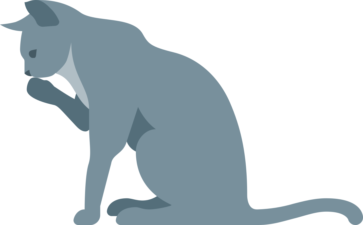 Katze grau Clipart-Grafik als PNG, SVG