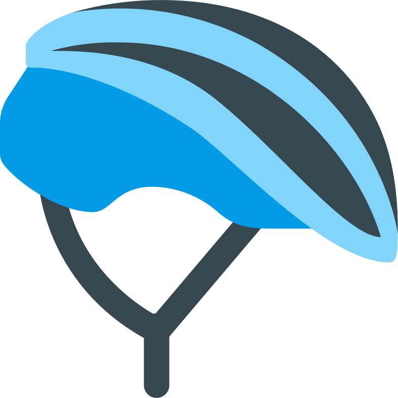 cyclist helmet blue Clipart illustration in PNG, SVG