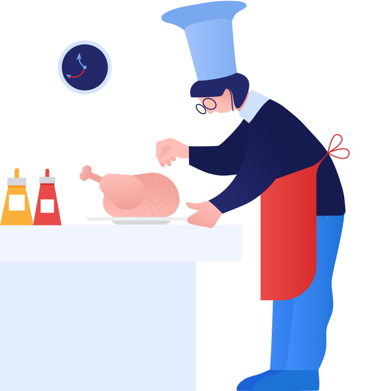 Cooking turkey Clipart illustration in PNG, SVG