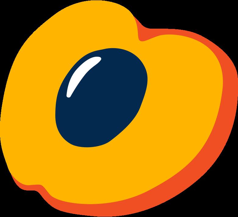 Pfirsich Clipart-Grafik als PNG, SVG