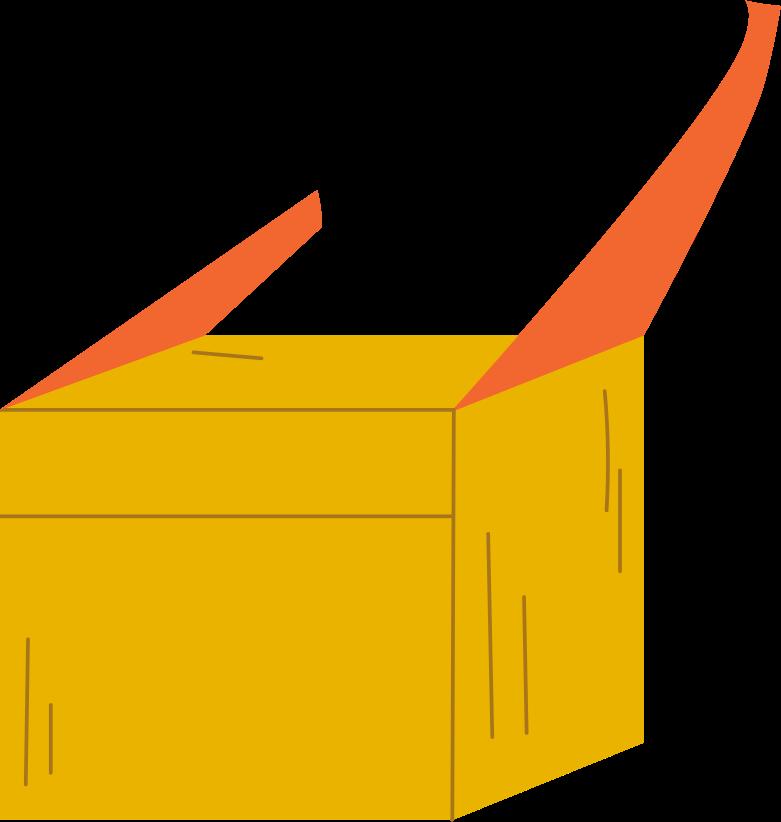 Illustration clipart boîte aux formats PNG, SVG