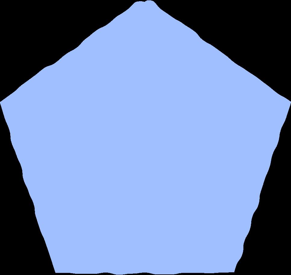 pentagon light blue Clipart illustration in PNG, SVG