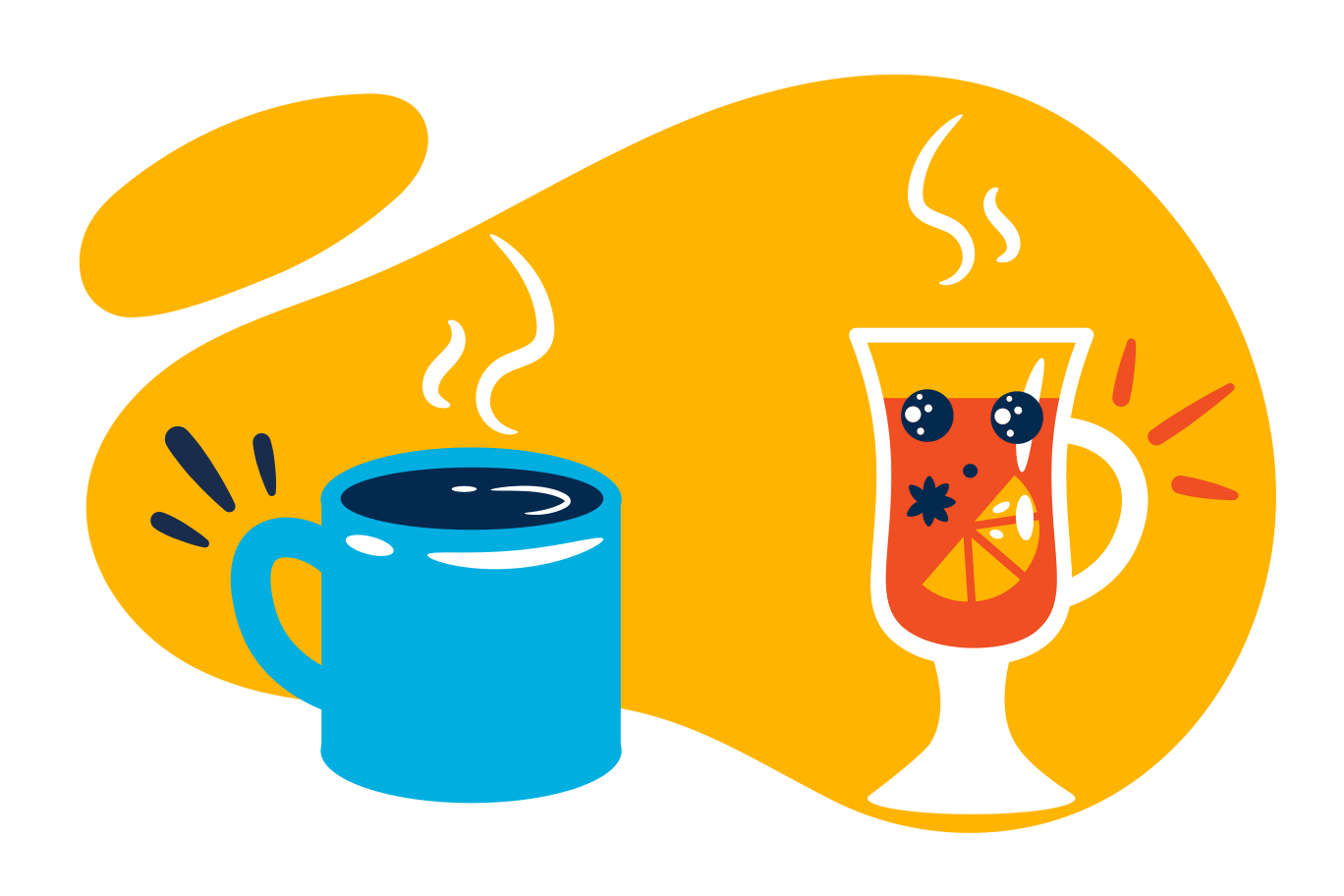 Hot winter drinks Clipart illustration in PNG, SVG