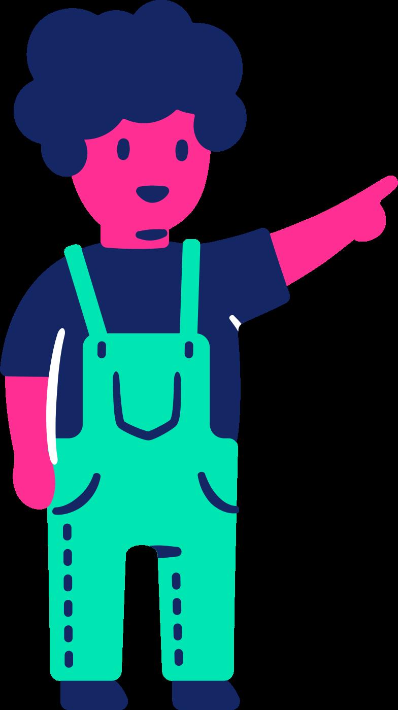 Иллюстрация ребенок указывает вверх в стиле  в PNG и SVG | Icons8 Иллюстрации