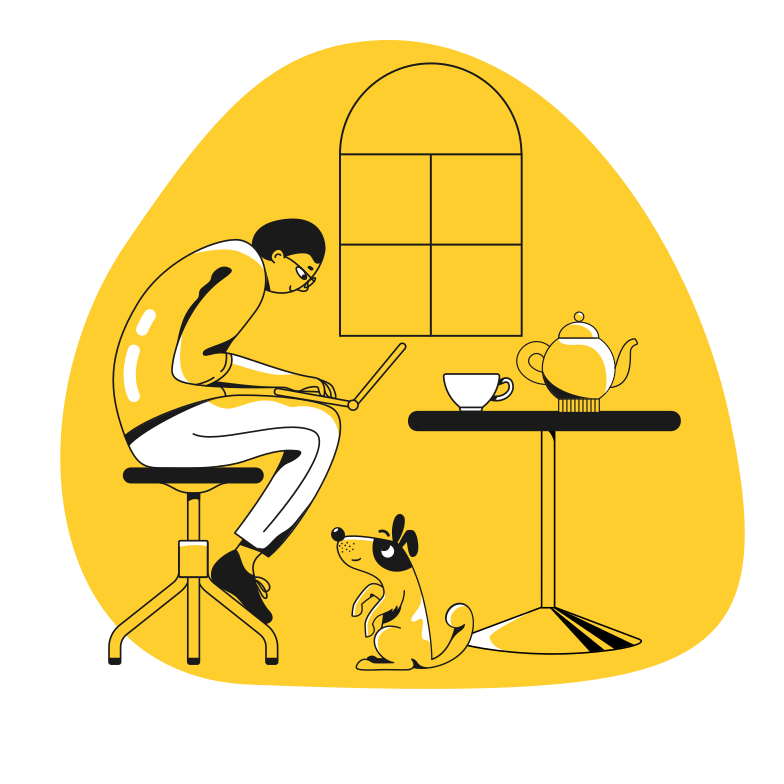 Home working Clipart illustration in PNG, SVG