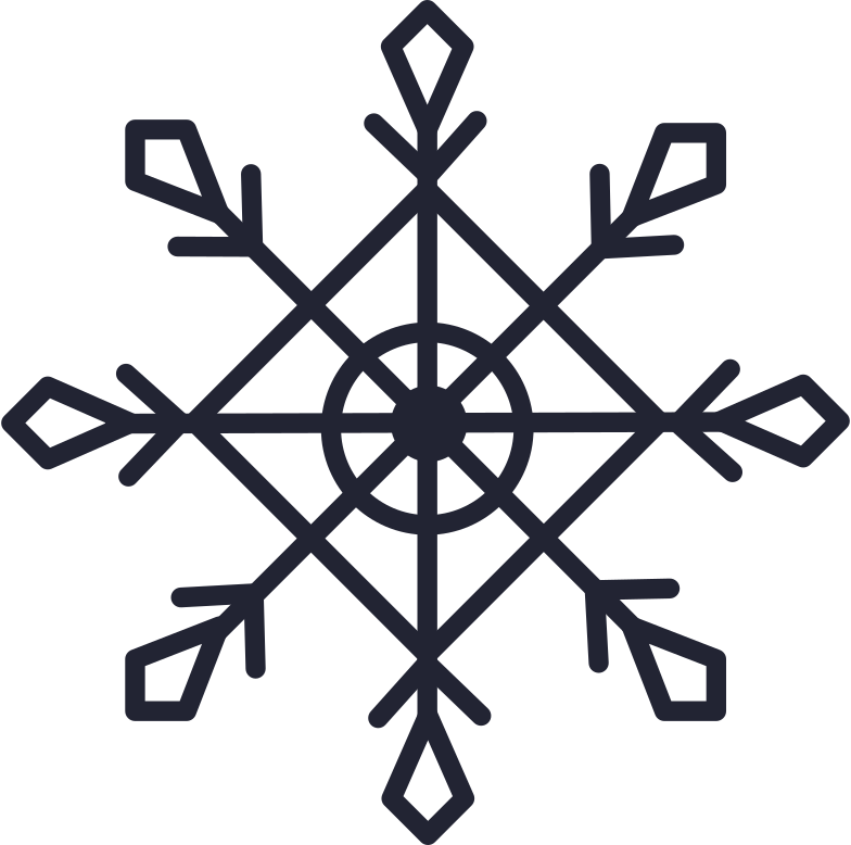 patterned snowflake Clipart illustration in PNG, SVG