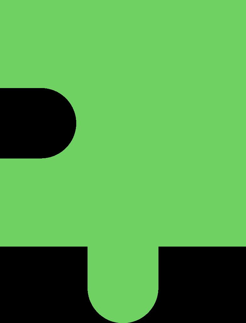 puzzle piece light green Clipart-Grafik als PNG, SVG