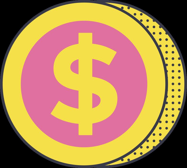 Ilustración de clipart de coin en PNG, SVG