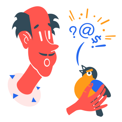 style Swearing bird images in PNG and SVG | Icons8 Illustrations