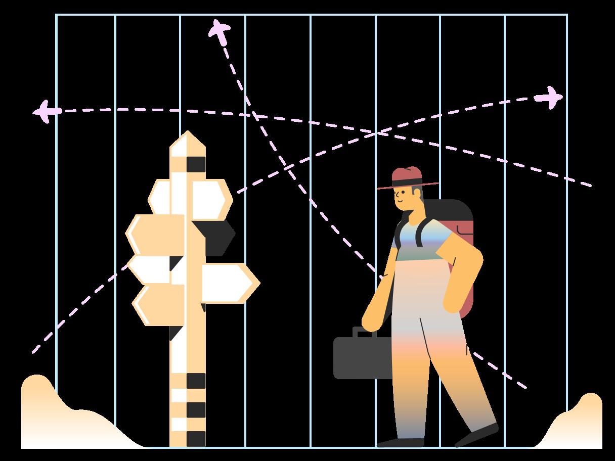 Travel destinations Clipart illustration in PNG, SVG